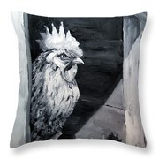 King Of The Roost Throw Pillow by Diane Kraudelt