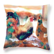 King Of The Roost Throw Pillow
