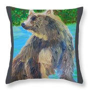 King Of The Stream Throw Pillow
