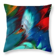 King Of The Swans Throw Pillow