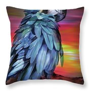 King Parrot 01 Throw Pillow