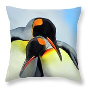 King Penguin Throw Pillow by Tony Beck