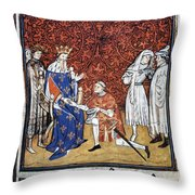 King Philip Iv Of France Throw Pillow