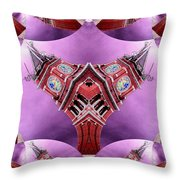 King Street Station In Fractal 2 Throw Pillow