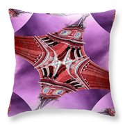 King Street Station In Fractal Throw Pillow