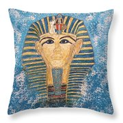 King Tutankhamun Face Mask Throw Pillow