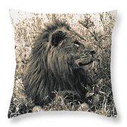 King Waiting Throw Pillow