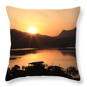 Kingdom Of Nepal Throw Pillow