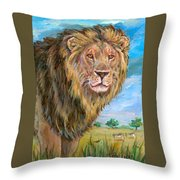 Kingdom Of The Lion Throw Pillow