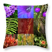 Kingdom Plantae Throw Pillow
