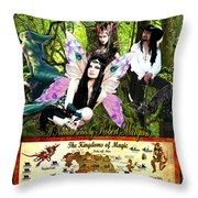 Kingdoms Of Magic Fairy Poster Throw Pillow