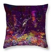 Kingfisher Bird Alcedo Atthis  Throw Pillow