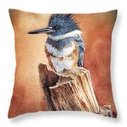 Kingfisher I Throw Pillow