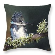 Kingfisher II Throw Pillow