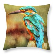 Kingfisher's Perch 2 Throw Pillow