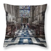 Kings Altar Throw Pillow