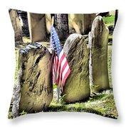 King's Chapel Cemetery  Throw Pillow