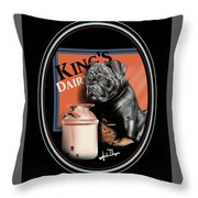 King's Dairy  Throw Pillow