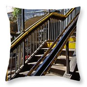 Kings Hwy Subway Station In Brooklyn Throw Pillow