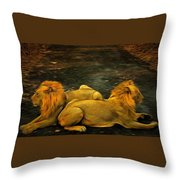 Kings Of The Road Throw Pillow