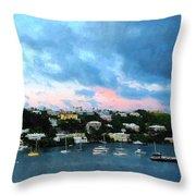 King's Wharf Bermuda Harbor Sunrise Throw Pillow