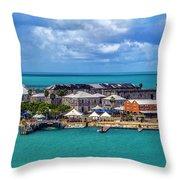 Kings Wharf, Bermuda Throw Pillow