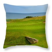 Kingsbarns Golf Links Hole #18 Throw Pillow