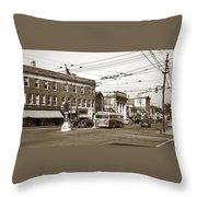 Kingston Corners Kingston Pa Early 1950s Throw Pillow