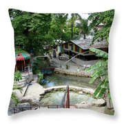 Kingston Jamaica Plaza Throw Pillow