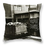 Kingston Pa Kingston Coal Co Ticket Board At The Breaker 1924 Throw Pillow