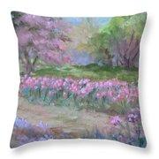Kingwood Tulips Throw Pillow