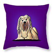 Kiniart Lhasa Apso Braided Throw Pillow