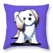 Kiniart Lhasa Apso Throw Pillow