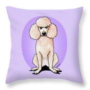 Kiniart Poodle Throw Pillow