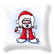 Kiniart Snorkel Westie Santa Throw Pillow