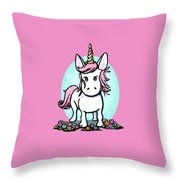 Kiniart Unicorn Sparkle Throw Pillow