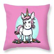 Kiniart Unicorn Sparkle Throw Pillow