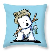 Kiniart Westie Fisherman Throw Pillow