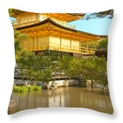 Kinkakuji Golden Pavilion Kyoto Throw Pillow