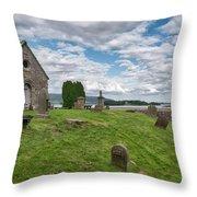Kinross Cemetery On Loch Leven Throw Pillow