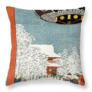 Kinryuzan Temple At Asakusa Throw Pillow