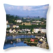 Kinsale, Co Cork, Ireland View Of Boats Throw Pillow