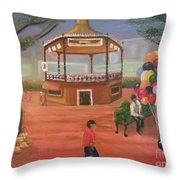 Kiosko Y Globos Throw Pillow