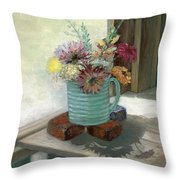Kiowas' Porch Throw Pillow