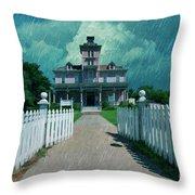 Kirby House Restaurant  Throw Pillow