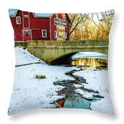 Kirby's Mill Landscape - Creek Throw Pillow