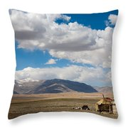 Kirgizian Jurts Throw Pillow