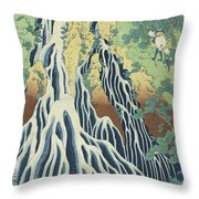 Kirifuri Falls Near Mount Kurokami In Shimotsuke Province Throw Pillow