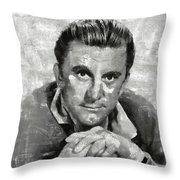 Kirk Douglas Hollywood Actor Throw Pillow