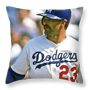Kirk Gibson, Los Angeles Dodgers Throw Pillow
